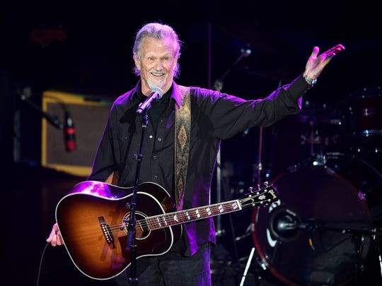 "Kris Kristofferson performs his hit ""Sunday Morning Coming Down"" during the NSAI 50 Years of Songs concert at the Ryman Auditorium Sept. 20, 2017."