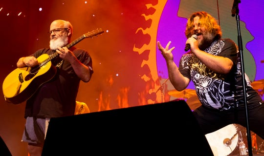 Tenacious D performs at Ascend Amphitheater in Nashville, Tenn., Sunday, Aug. 4, 2019.