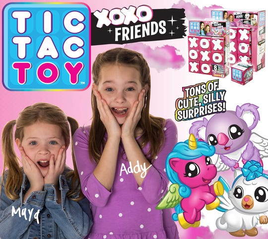 Maya and Addy Maxwell are featured prominently in banner ads for new Tic Tac Toy toyline