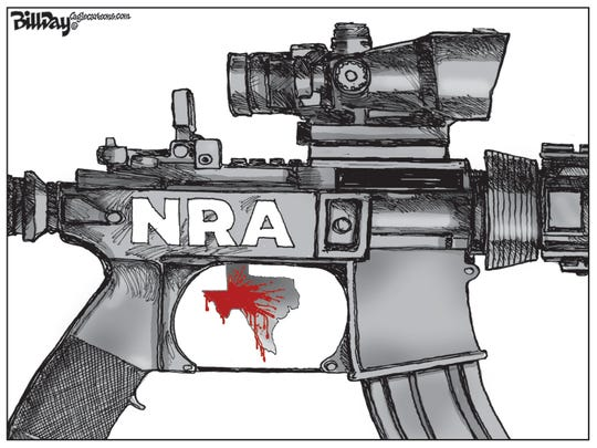 Texas mass shooting and NRA.