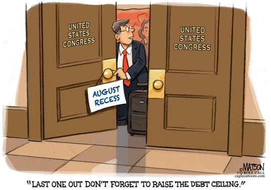 """Raise debt ceiling"" before recess."