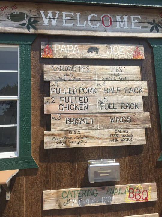 Some of the many offerings at Papa Joe's Hometown BBQ on South Main Street in Pataskala.