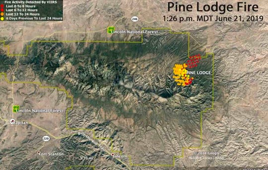The Pine Lodge Fire burned on the north side of the Capitan Mountains.