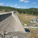 One of Ruidoso's water production plants is situated in back of Grindstone Dam.