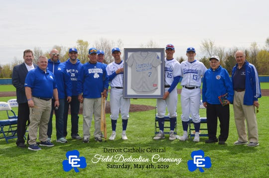 The Catholic Central baseball complex was dedicated in the spring.