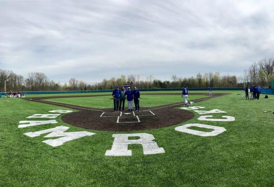 The Catholic Central baseball complex features new turf.