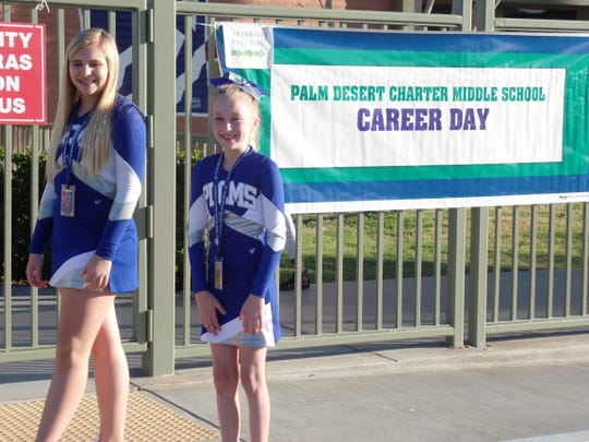 Palm Desert Charter Middle School students attend career day.