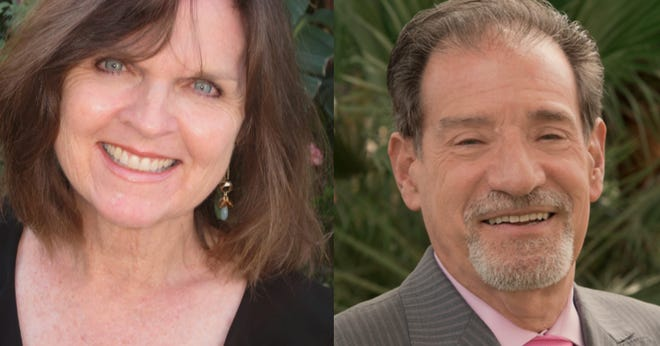 Rita Lamb (left) and Shelley Kaplan. Both candidates are vying to serve District 1 in Cathedral City  through November 2020 in a district comprised nearly 10,000 residents.