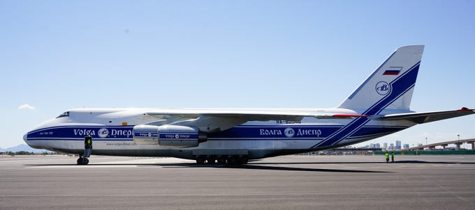 Plane spotters noticed an Antonov An-124 at Phoenix Sky Harbor International Airport. One of the largest cargo planes in the world, it was delivering equipment to Intel.