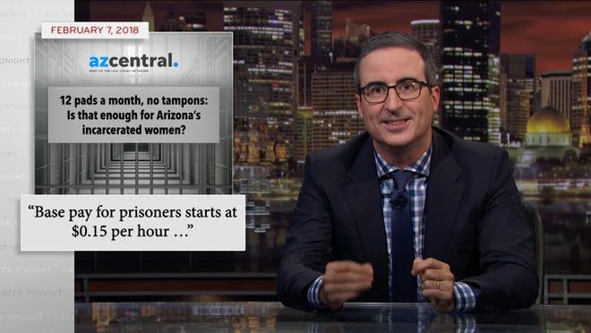 """""""Last Week Tonight"""" host John Oliver on Aug. 4, 2019."""