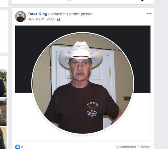 David King's Facebook page