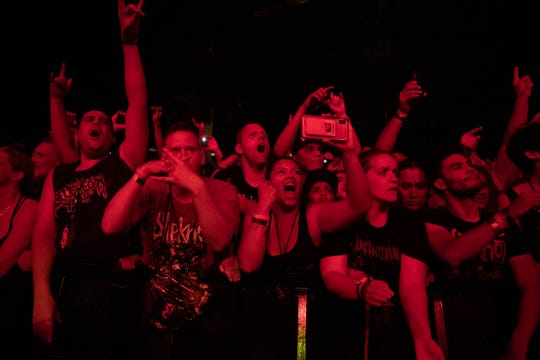 These fans were pumped at Knotfest at Ak-Chin Pavilion on Sunday, Aug. 4, 2019.