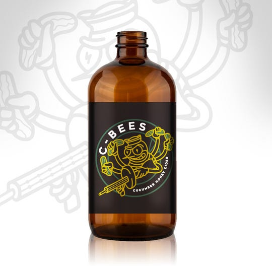 Cider Corps C-Bees Cider will be sold in four packs of specially labeled bottles.