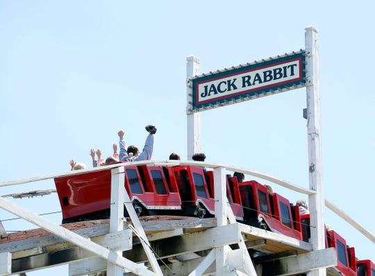 The Jack Rabbit is a favorite among visitors to Seabreeze Amusement Park.