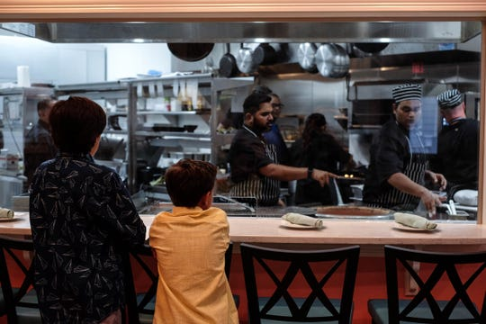 You can watch your food being made at Raas, the first Indian restaurant in Lewes. Wednesday, July 31, 2019.