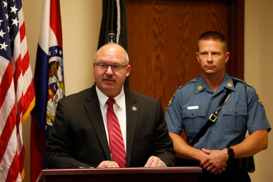 Sheriff Jim Arnott speaks at a news conference Monday morning, Aug. 5, 2019.