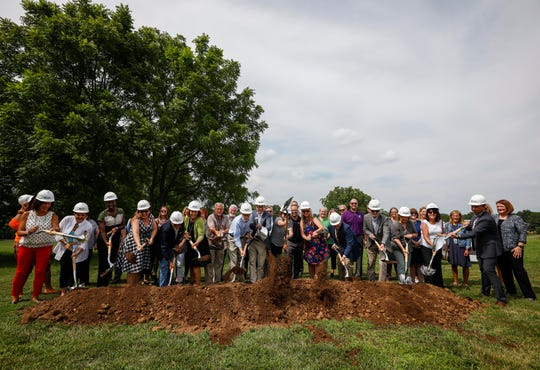 Springfield Public School Board of Education members and other dignitaries broke ground for the Southwest Region Early Childhood Center on Monday, Aug. 5, 2019, in Springfield, Mo.