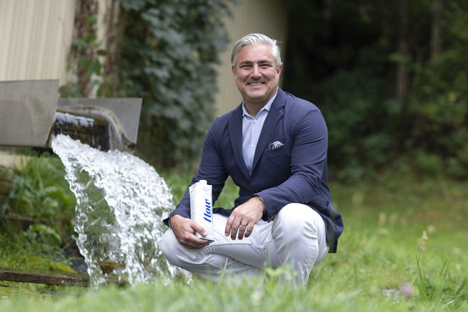 Nicholas Reichenbach, Flow Alkaline Spring Water's CEO and founder, at the new U.S. spring in Mount Sidney, Va.
