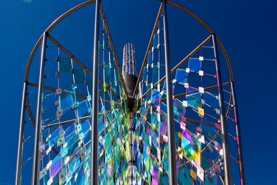 """""""Circle of Color"""" is part of the 15th Annual TOWN Show – """"Tallahassee's Own"""" Art Exhibition at the City Hall Art Gallery on displaythrough Sept. 23."""
