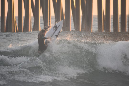 Makena Burke, 16, of Ventura took ninth in her age group at the 2019 Vans U.S. Open of Surfing in Huntington Beach.