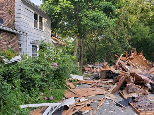 A house explosion in Millwood on  8/5/2019