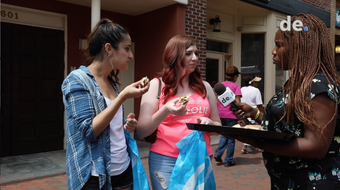 Reporter Marina Affo asks Delawareans to sample and guess the new Impossible Whopper from the Burger King standard.