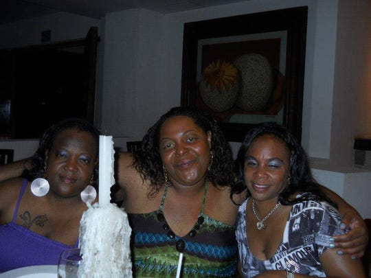 (From left to right) Natalie Brown, Beatrice Nicole Warren-Curtis and Charnita Scott in Cancun, Mexico in 2012.