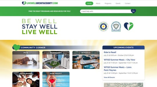 The Live Well Wichita County program added five new categories to its website to better serve the needs of residents.