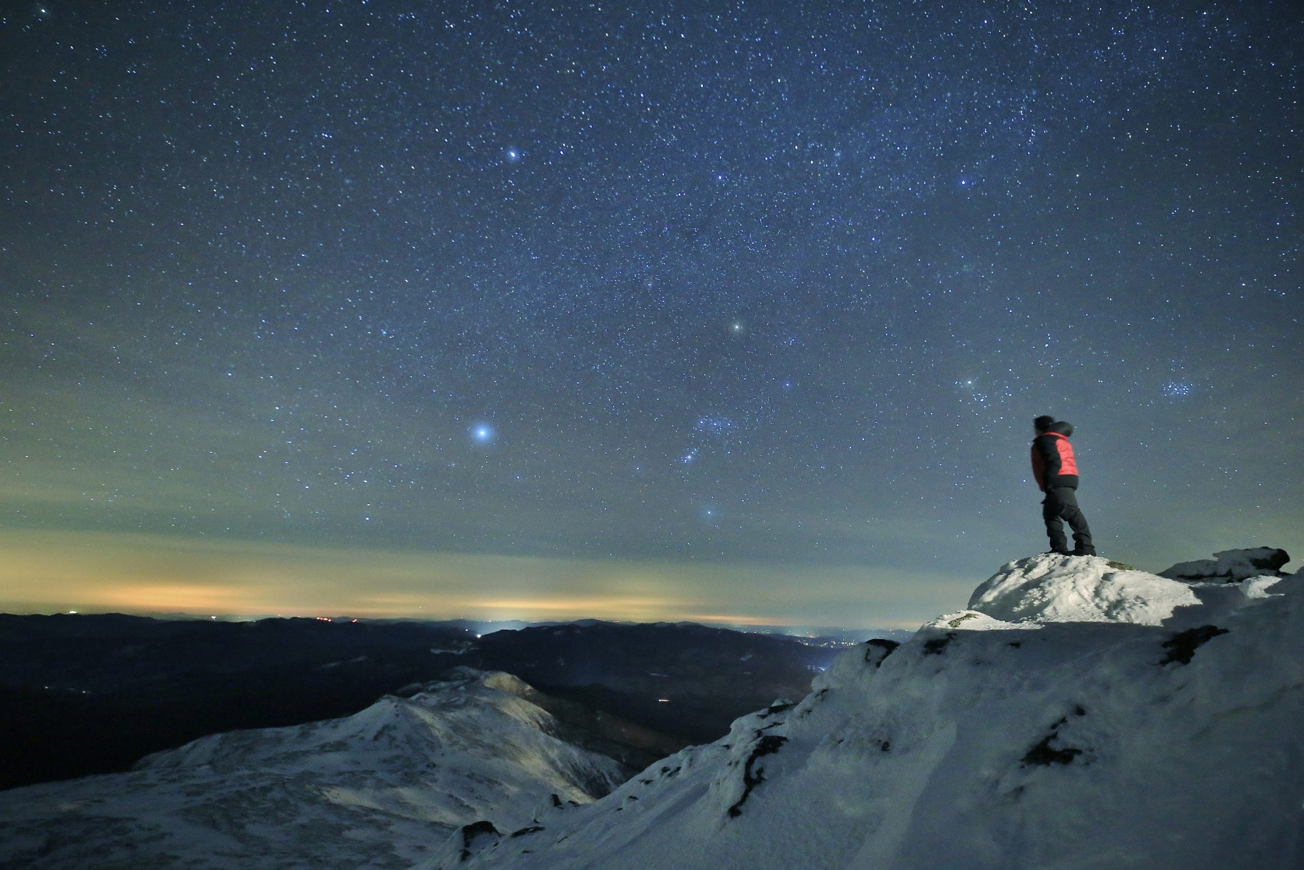 <strong>Mount Washington, New Hampshire:</strong> The weather can be menacing atop Mt. Washington but on a clear night, the views are worth the trip, stargazers say.