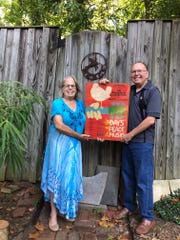 David and Eileen Colton, now of Arlington, Virginia, still have the free Woodstock poster given out on the last day of the festival.