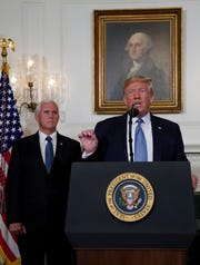 Vice President Mike Pence and President Donald Trump on Aug. 5, 2019.