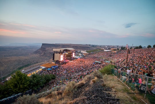 Quincy, Washington: The Gorge Amphitheater in Quincy, Wash., is a remote venue providing sweeping views of the Columbia River and the evening stars.
