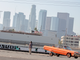 Lowrider Impala with model shoot in Los Angeles.