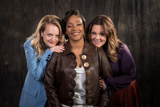 """Elisabeth Moss, Tiffany Haddish, and Melissa McCarthy flip the male-dominated mob genre on its head with their retro film """"The Kitchen."""""""