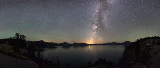 Crater Lake, Oregon: The combination of dry weather and high elevation makes Oregon's Crater Lake National Park, Oregon ideal for stargazing.