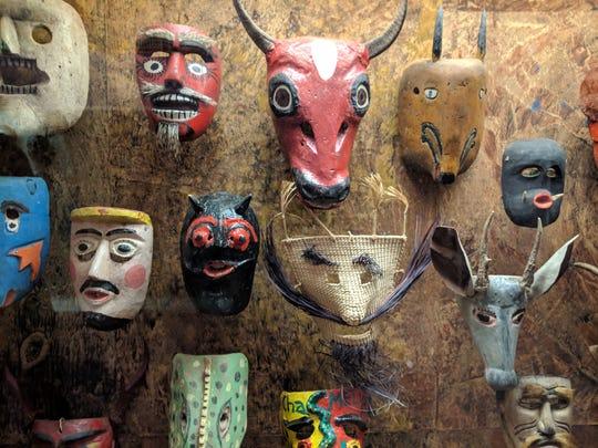 Masks at the Museum of International Folk Art in Santa Fe in 2019.
