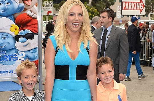 A look back: Britney Spears and her sons from 2013.
