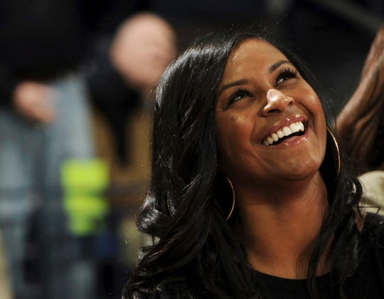 In this Nov. 17, 2011, file photo, Notre Dame assistant coach Niele Ivey smiles during a presentation.