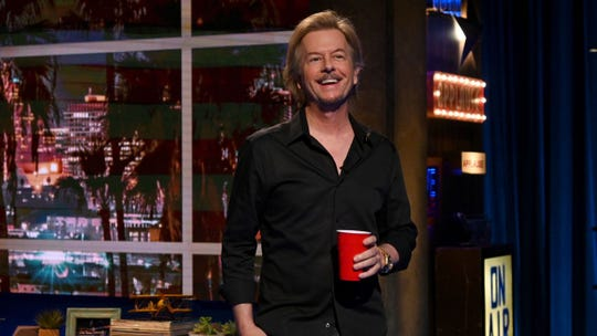 """David Spade keeps it casual on his new show """"Lights Out with David Spade,"""" which premiered on Comedy Central last week."""