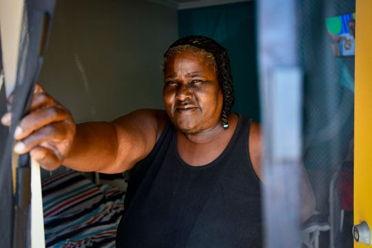 """Latanya Brown has been a resident at The Reno Motel since January 2019, and was living in her van for two years beforehand. """"This place takes care of you,"""" said Brown."""