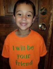 Blake Rajahn wanted to spread a message of anti-bullying and friendship on his first day of school.