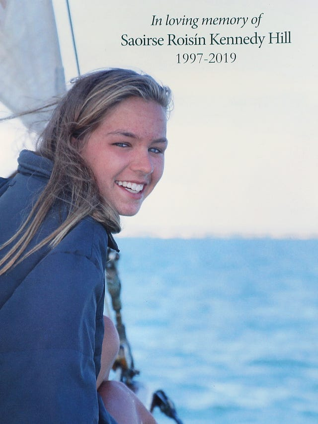 Saoirse Kennedy Hill's funeral at Our Lady of Victory Church