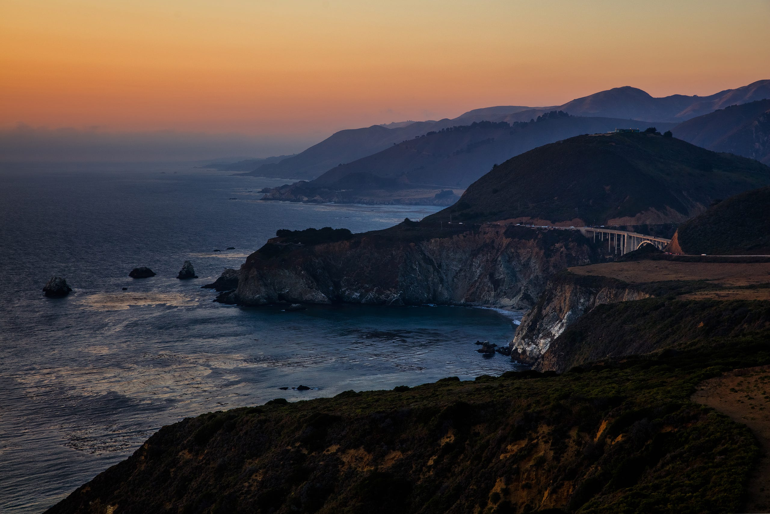 <strong>Big Sur, California:</strong> After the sunsets, the stars glow over the Big Sur coastline.