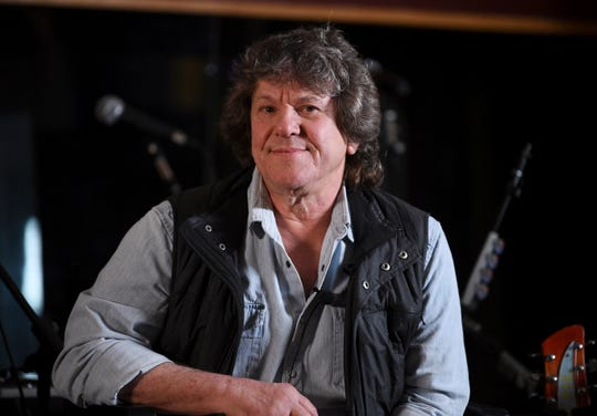 In this March 19, 2019, file photo, Woodstock co-producer and co-founder, Michael Lang, participates in the Woodstock 50 lineup announcement at Electric Lady Studios in New York.