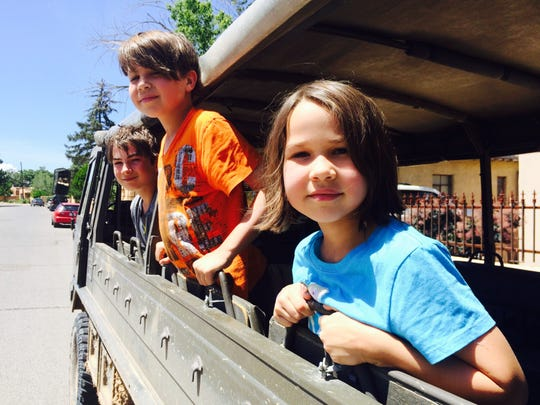 The kids on the Santa Fe Mountain Adventures tour of Santa Fe in 2015. It's one of the top things to do in Santa Fe for families.