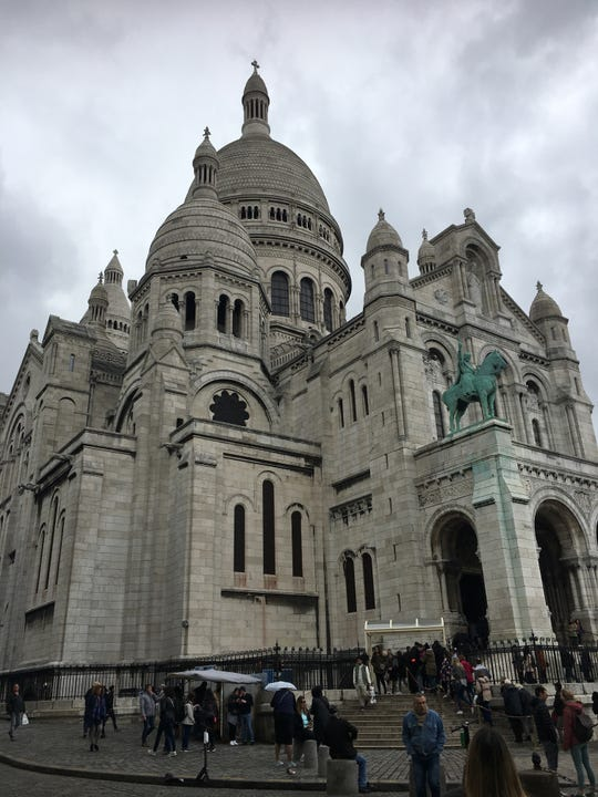 Begun in 1875, construction of the Sacre-Coeur Basilica took nearly four decades to complete. The terraced park in front of the church offers excellent views of Paris.