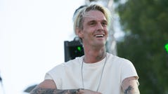 Aaron Carter attends the LA Pride Music Festival And Parade 2017 on June 10, 2017 in West Hollywood, California.