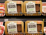 The Beyond Burger is one of the popular alternatives to beef patties. The plant-based industry has grown 17% in the last year, compared to just 2% for U.S. retain food dollar sales, per research via The Good Food Institute.