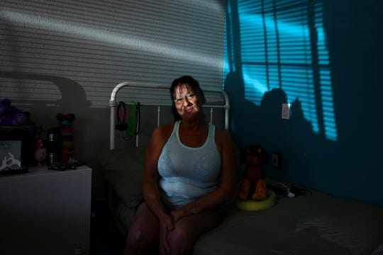 "Yolanda Etter lived under a palm tree in San Pedro before having knee replacement surgery and being given the opportunity to live in the motel. ""They help you so much,"" said Etter. ""They want you to get a normal life back."""
