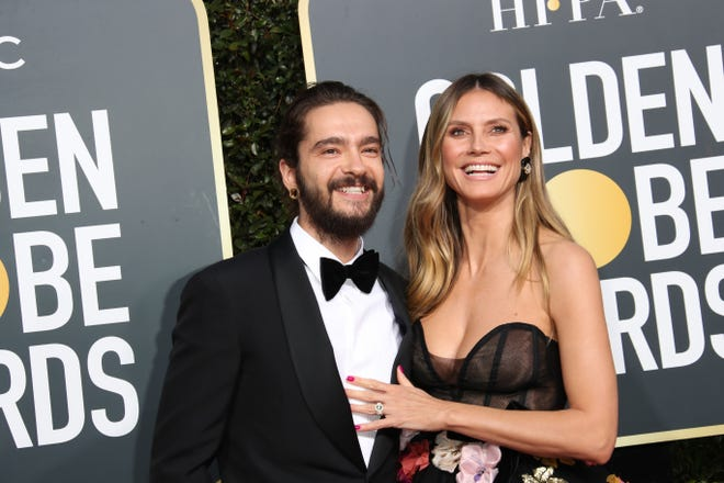 Heidi Klum and now-husband Tom Kaulitz at the Golden Globe Awards on Jan. 6, 2019.